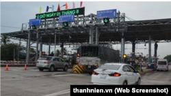 BOT Cai Lậy trước, nay đến trạm thu phí Biên Hòa. (Ảnh chụp màn hình báo thanhnien.vn)