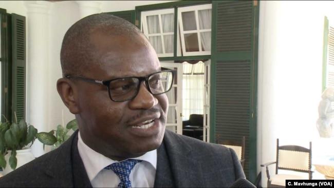 Government spokesman Ndavaningi Nick Mangwana in Harare, March 18, 2019.
