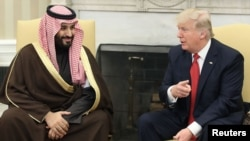 گفت و گوی پرزیدنت ترامپ با بن سلمان در سفر سال گذشته ولیعهد عربستان