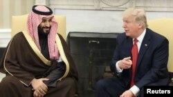 محمد بن سلمان با دونالد ترمپ، رئیس جمهور ایالات متحده