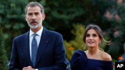 Король Испании Фелипе VI и королева Летисия (архивное фото)