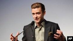 """Justin Timberlake memperkenalkan film tentang konsernya """"Justin Timberlake + The Tennessee Kids,"""" dalam Toronto International Film Festival (13/9)."""