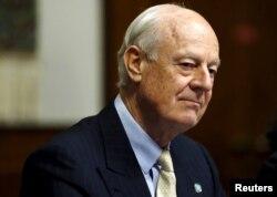 Staffan de Mistura es el enviado de la ONU que media las conversaciones de paz para Siria, en Ginebra, Suiza.