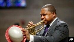 FILE - Jazz trumpeter Wynton Marsalis