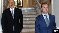 Ильхам Алиев и Дмитрий Медведев