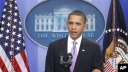 President Barack Obama makes a statement to reporters about the suspicious packages found on U.S. bound planes, 29 Oct 2010