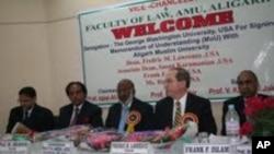 علی گڑھ مسلم یونیورسٹی کا جارج واشگٹن یونیورسٹی کے ساتھ تاریخی معاہدہ