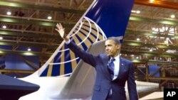 奧巴馬在波音公司。