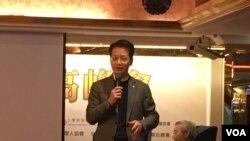 中国文化大学社会科学院院长赵建民。(记者陈筠摄)