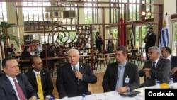 El encuentro contó con la participación del presidente de Panamá, Ricardo Martinelli. [Foto: OEA]