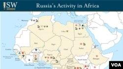 რუსეთის სამხედრო საქმიანობა აფრიკაში კონტინენტზე რესურსების მდებარეობას უკავშირდება.