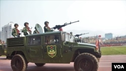 United Wa State Army (UWSA) 30 years of a ceasefire signed with the Myanmar military in the Wa State, in Panghsang on April 17, 2019.