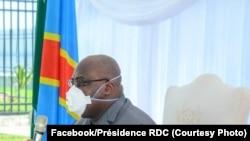 Rais Felix Tshisekedi alipokutana na viongozi wa dini, Kinshasa, Aprili 20, 2020. (Facebook/présidence RDC)