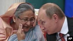 Шейх Хасина и Владимир Путин