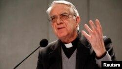 El vocero de la Santa Sede, Federico Lombardi, se reunió este martes con la prensa en Roma.