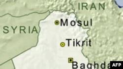 伊拉克地理位置图 (VOA资料)