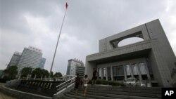 Tòa án nhân dân thành phố Hợp Phì ở An Huy hôm 8/8/2012, nơi xảy ra vụ xử ngày thứ Năm
