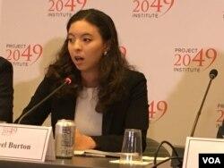 2049项目研究所副主任柏家珈(Rachael Burton) (美国之音钟辰芳拍摄)