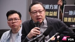 香港大學法律系副教授戴耀廷 (美國之音湯惠芸拍攝)