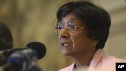 United Nations High Commissioner for Human Rights Navi Pillay, Harare, May 25, 2012.