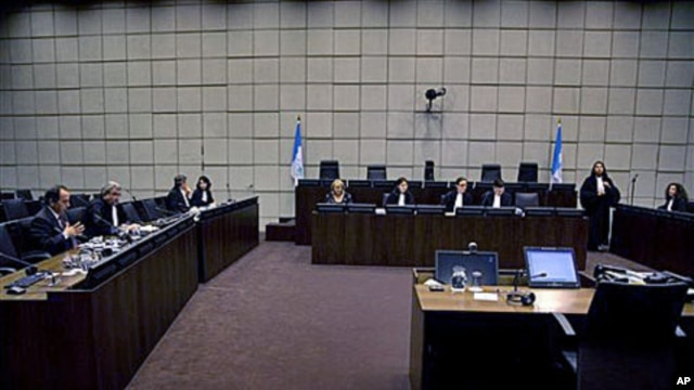 Overview of the courtroom of the Special Tribunal for Lebanon (STL) in The Hague, which is investigating the 2005 assassination of former Lebanese Prime Minister Rafik Hariri Netherlands, January 14, 2011