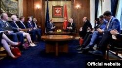 Predsjednik Evropskog savjeta Donald Tusk na sastanku sa crnogorskim premijerom Duškom Markovićem (gov.me)