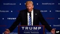 Donald Trump phát biểu tại một sự kiện, ở thành phố Franklin, bang Tennessee, ngày 3 tháng 10, 2015.