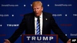 Donald Trump sementara unggul di tiga negara bagian utama dalam persaingan meraih nominasi Capres AS dari Partai Republik (foto: dok).