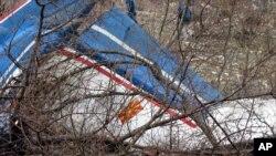 """Остатоци од владиниот """"Кинг ер"""" што се урна во Босна и Херцговина на 26-ти февруари 2004-та"""
