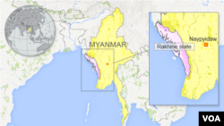 Myanmar with Rakhine state