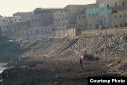 Trash heaps are seen piled up at Secundo Lido Beach in Hamarweyne, the oldest district in Somalia's capital, Mogadishu. (Courtesy - Jamal Ali)