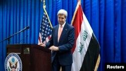 美国国务卿克里6月23日在巴格达与记者谈话时对埃及法庭的判决作出严厉批评