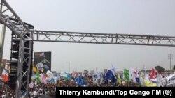 En images : l'opposant Tshisekedi a rassemblé à Kinshasa pour demander le départ de Kabila