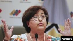 Tibias Lucena, presidenta del CNE de Venezuela.
