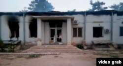 The hospital in Kunduz after an alleged U.S. airstrike Saturday killed at least 19 people, including three children, according to officials with the international medical charity Doctors Without Borders, known by its French acronym MSF.