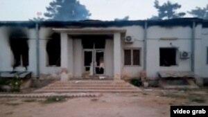 Bệnh viện ở Kunduz, Afghanistan sau khi bị không kích nhầm bởi lực lượng Mỹ khiến ít nhất 19 người bị thương, bao gồm 3 trẻ em.