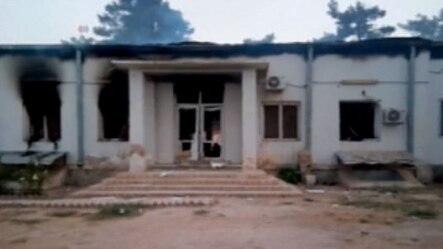据称在昆都士受到美军空袭的那所医院 (2015年10月3日)