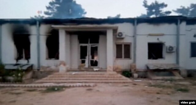 FILE - The hospital in Kunduz after airstrike killed at least 19 people, including three children, according to officials with the international medical charity Doctors Without Borders, known by its French acronym MSF.