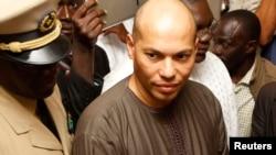 Karim Wade à Dakar, février 2012.