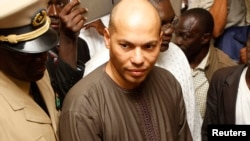FILE - Karim Wade is seen in Dakar in a February 26, 2012, photo.