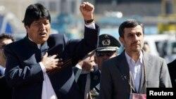 El presidente de Bolivia Evo Morales ha ratificado sus buenas relaciones con el presidente de Irán, Mahmoud Ahmadinejad, quien ha estado de visita por el país andino.