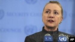 美國國務卿希拉里•克林頓重申,安理會必須就敘利亞問題迅速採取行動
