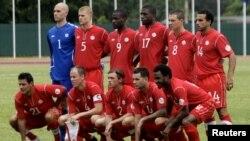 Ðội tuyển Canada tại Havana, Cuba trước trận đấu vòng loại tranh vé dự World Cup 2014 với Cuba, ngày 8/6/2012. Canada won 1-0.