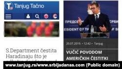 Napisi pojedinih medija u Srbiji povodom reakcije Stejt departmenta na odluku Ramuša Haradinaja da podnese ostavku i javi se na ispitivanje sudu u Hagu