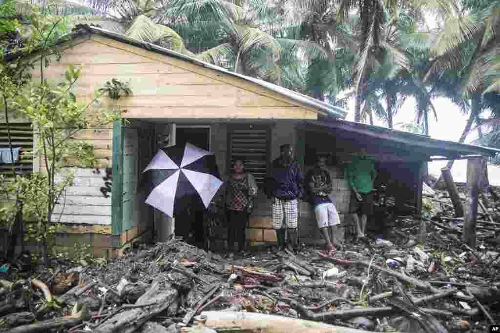 خانه ای در شهر ناگوا در جمهوری دومینیکن که در اثر توفان دریایی سهمگین ایرما تخریب شده است.