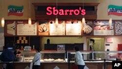 Un restaurante de Sbarro en San José, California. Su gerencia dijo el lunes que está pidiendo protección por bancarrota.
