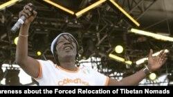 La star ivoirienne du reggae Alpha Blondy