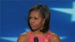 Michelle Obama Rallies Convention Delegates