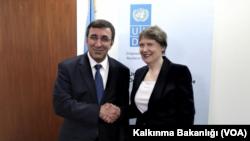 Kalkınma Bakanı Cevdet Yılmaz, UNDP Başkanı Helen Clark ile