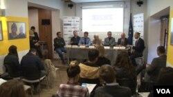 Tribina povodom međunarodnog dana prestanka nekažnjavanja krivičnih dela protiv novinara, Priština 2. novembar 2017.